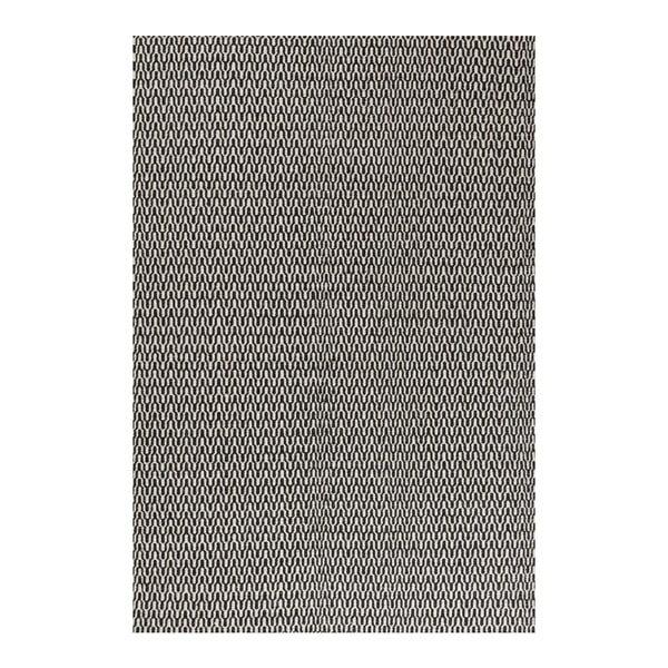 Vlnený koberec Charles Black White, 140x200 cm