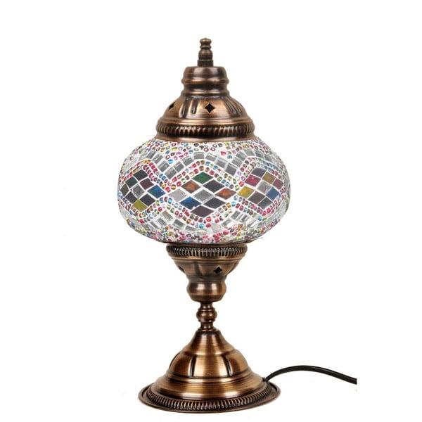 Sklenená ručne vyrobená lampa Taj Mahal, ⌀ 13 cm