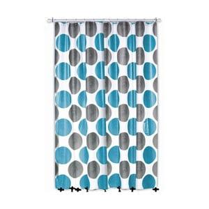 Sprchový záves Lamara Peva, sivý/tyrkysový, 180x200 cm