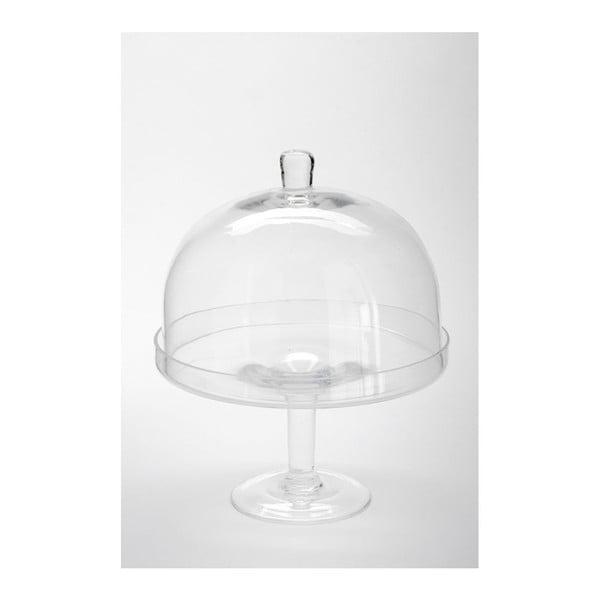 Sklenený podnos s poklopom Dome Knob, 25x32 cm