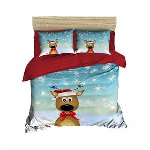 Vianočné obliečky na dvojlôžko s plachtou Michele, 160×220 cm