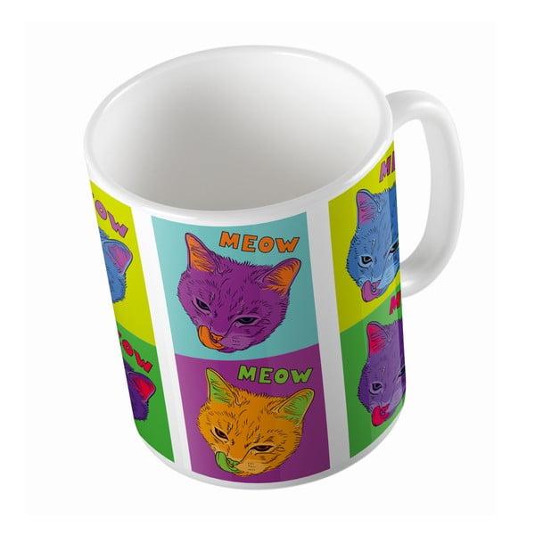 Keramický hrnček Butter Kings Warhol Cats, 330 ml