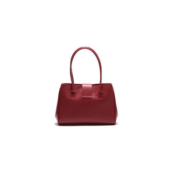 Kožená kabelka Anna Luchini 1170 Rosso