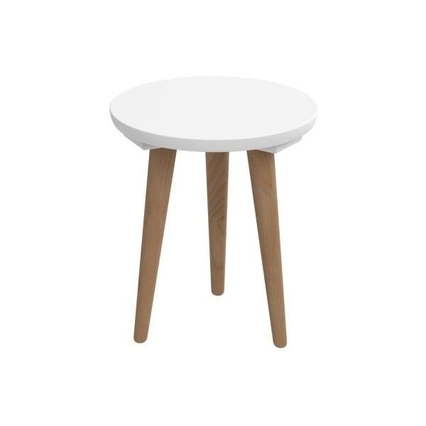 Biely stôl D2 Bergen, 30 cm