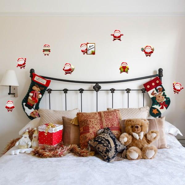 Sada 9 vianočných samolepiek Fanastick Funny Santa Claus