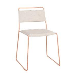 Biela stolička so žltou konštrukciou OK Design One Wire