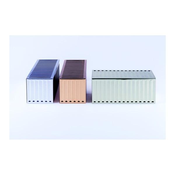 Sada 3 úložných kontajnerov DOIY Metal Series