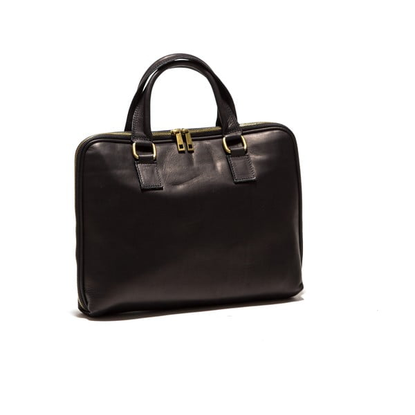 Kožená taška na notebook Anna Luchini 2120 Nero