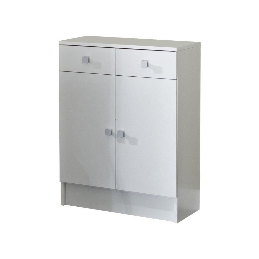 Biela kúpeľňová skrinka Symbiosis Combi, šírka 60 cm