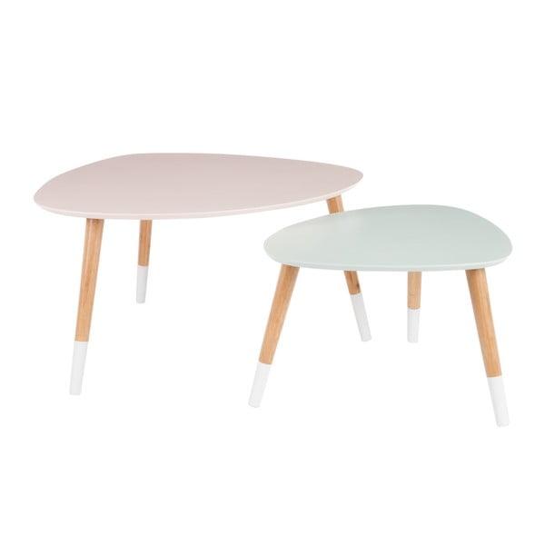 Sada 2 odkladacích stolíkov Vintage Table, 80x68 cm/60x50 cm