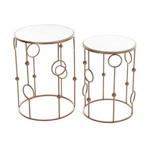 Set 2 stolíkov Copper Metal