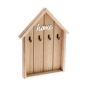Drevený nástenný vešiak na kľúče v tvare domčeka Dakls