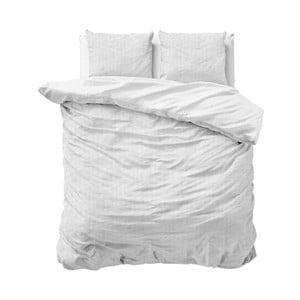 Biele obliečky z bavlny na dvojlôžko Sleeptime, 200 x 220 cm