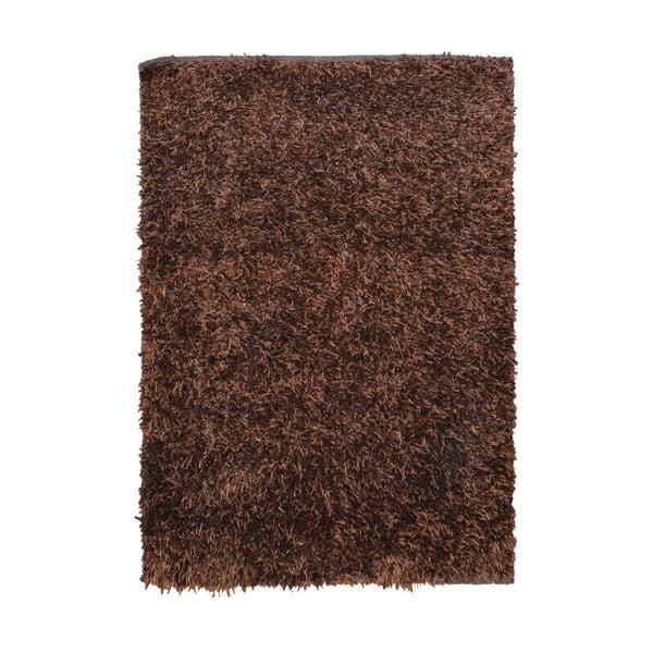 Hnedý koberec Webtappeti Shaggy, 120 x 170 cm