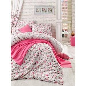 Sada prikrývky cez posteľ, plachty a obliečky Flomar Pink, 160x235 cm