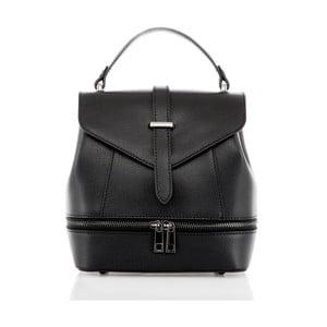 Čierny kožený batoh Glorious Black Zinny