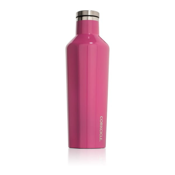 Ružová cestovná termofľaša Root7 Canteen, 470ml