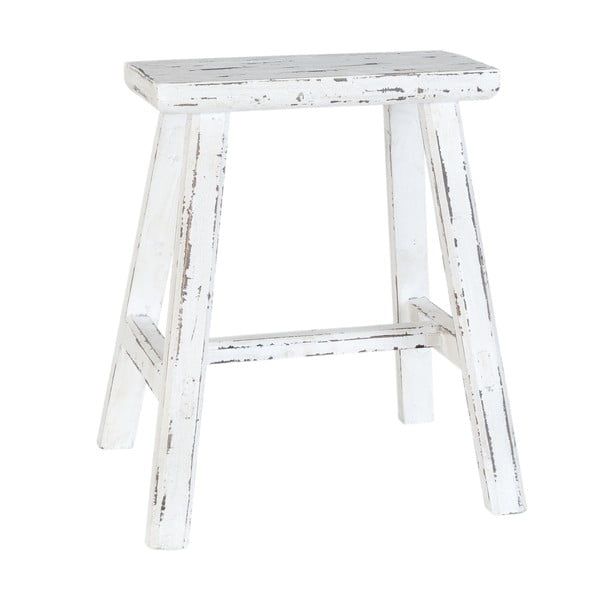 Biela drevená stolička Clayre & Eef