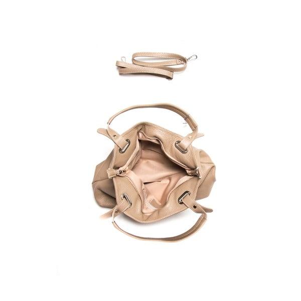 Sivohnedá kožená kabelka Louisa Vannino Nena