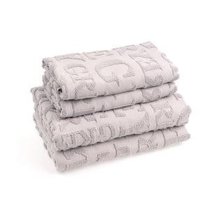 Sada 4 bavlnených uterákov CasaDiBassi Gtypo
