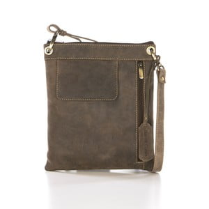Hnedá kožená kabelka Gianni Conti Jacquetta