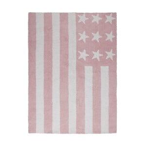 Ružový bavlnený ručne vyrobený koberec Lorena Canals USA, 120 x 160 cm