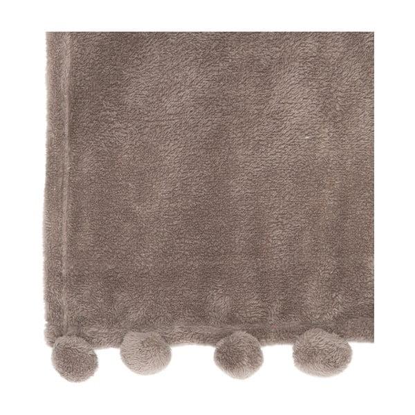 Pléd PomPom 127x152 cm, hnedý