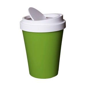Zeleno-biely odpadkový kôš Qualy&CO Coffee Bin