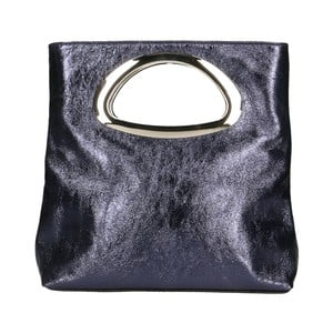 Čierna kožená kabelka Chicca Borse Lumino