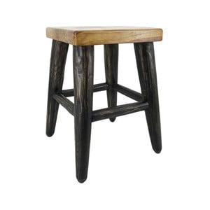 Stolička z teakového dreva Moycor Black Legs Stool