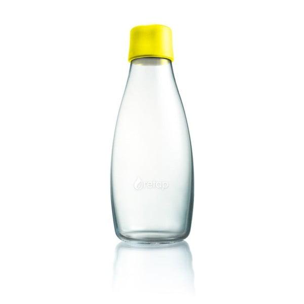 Žltá sklenená fľaša ReTap s doživotnou zárukou, 500 ml