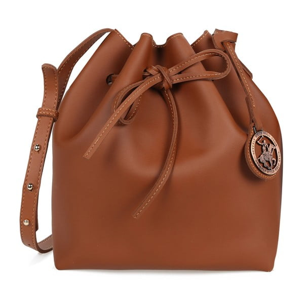 Hnedá kabelka z eko kože Beverly Hills Polo Club Valeria