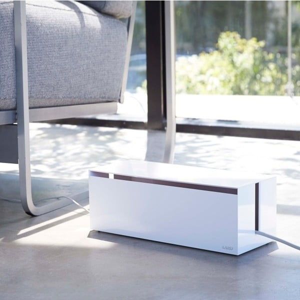 Biely box na nabíjačky Yamazaki Web Cable Box