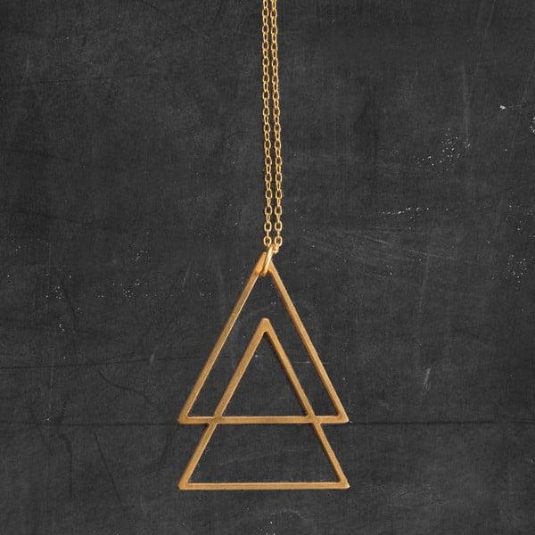 Náhrdelník Triangles Gold z kolekcie Geometry