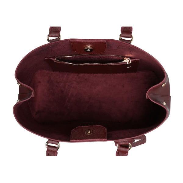 Tmavočervená kabelka z eko kože Beverly Hills Polo Club Mona