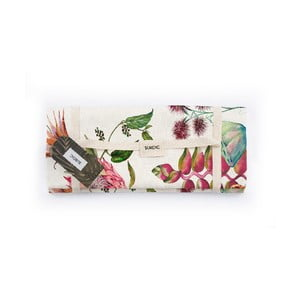 Piknik deka Surdic Manta Picnic White Flores Salvajes s motívom kvetov, 170 cm