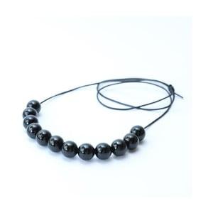 Čierny drevený dlhý náhrdelník Ko-ra-le Long