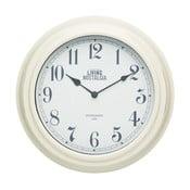 Krémové nástenné hodiny Kitchen Craft Living Nostalgia, Ø 25,5 cm