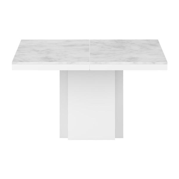 Biely jedálenský stôl s doskou z mramoru TemaHome Dusk