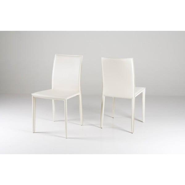 Jedálenská stolička Andrew, biela