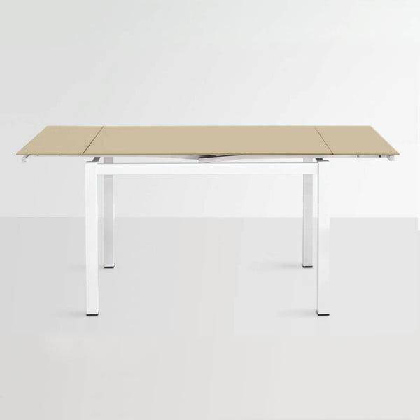 Rozkladací jedálenský stôl Queen, 110-170 cm, béžový