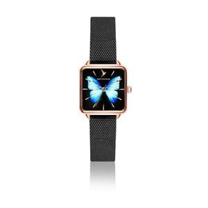 Dámske hodinky s remienkom z antikoro ocele v čiernej farbe Emily Westwood Brigitte
