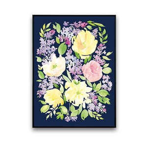 Plagát so žltými kvetmi, 30 x 40 cm
