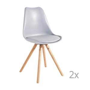 Sada 2 sivých jedálenských stoličiek 13Casa Sven