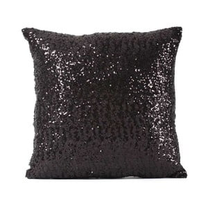 Čierna obliečka na vankúš s flitrami Minimalist Cushion Covers, 40 × 40 cm