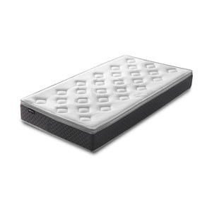 Biely matrac so sivým okrajom Bobochic Paris Fraicheur, 90 x 200 cm
