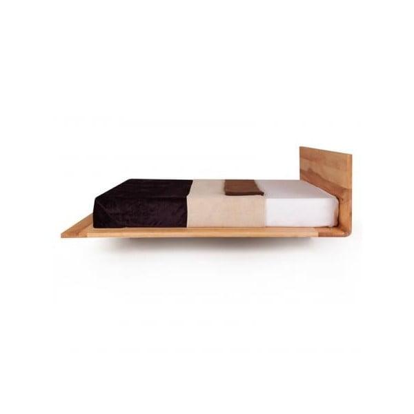 Posteľ Mazzivo Mood z jelšového dreva napusteného ľanovým olejom, 200 x 200 cm