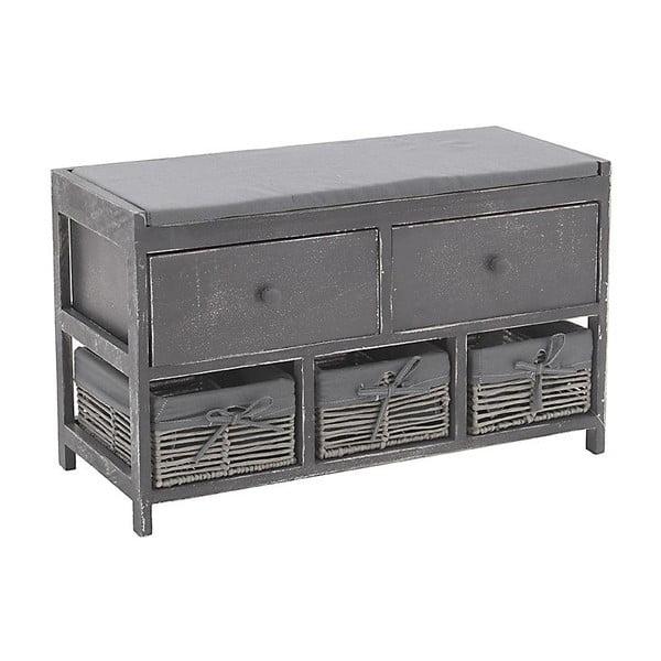Lavica so zásuvkami In Grey