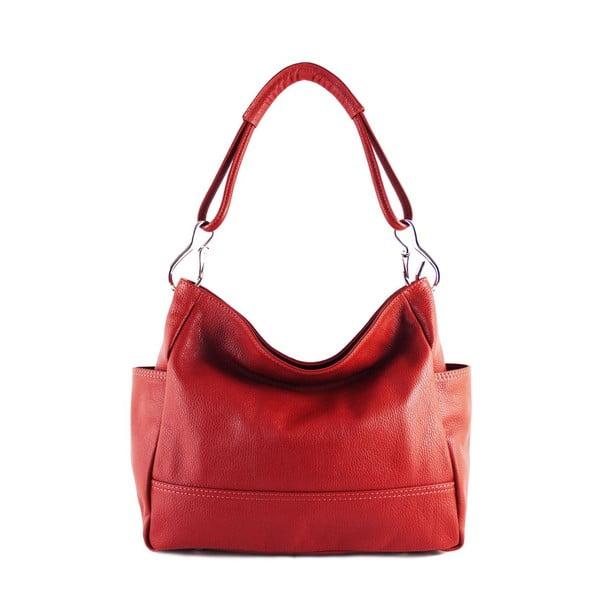 Kožená kabelka Acides Rosso