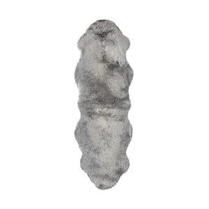 Sivý vlnený behúň z ovčej kožušiny Auskin Slaven, 60×180 cm